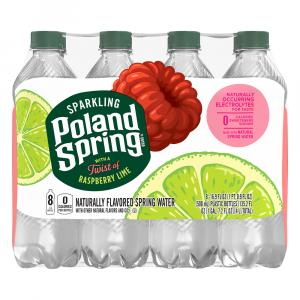 Poland Spring Sparkling Raspberry Lime Water
