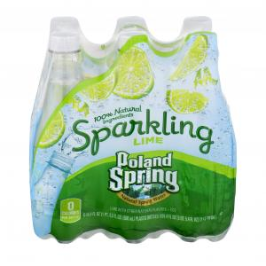 Poland Spring Sparkling Lime Water