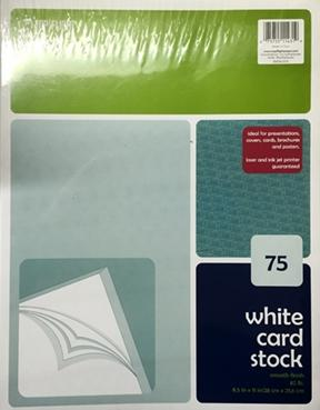 Top Flight White Card Stock