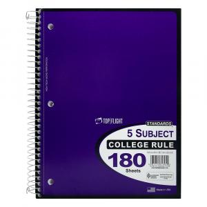 5-Subject Wire Note Book College Ruled