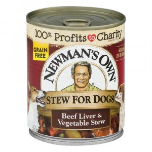 Newman's Own Premium Stew For Dogs Beef Liver & Vegetable