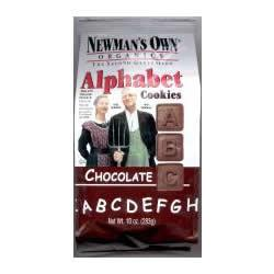 Newman's Own Chocolate Alphabet Cookies