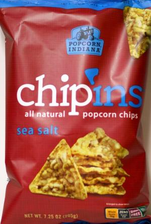 Popcorn Indiana Chipins Sea Salt Popcorn Chips