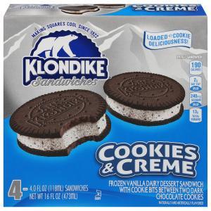 Klondike Cookies & Creme Ice Cream Sandwiches