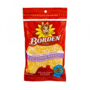 Borden Finely Shredded Four Cheese Mexican Cheese