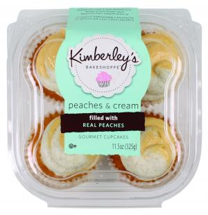 Kimberly's Peaches And Creme Gourmet Cupcakes
