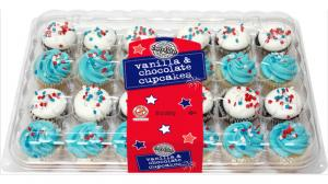Two-Bite Patriotic Assorted 24-Pack Cupcakes