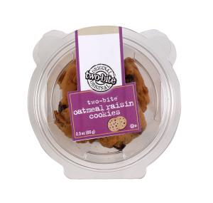 Two-Bite Oatmeal Raisin Cookie Snack Cup