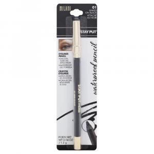 Milani Stay Put Waterproof Eyeliner Pencil Linked on Black