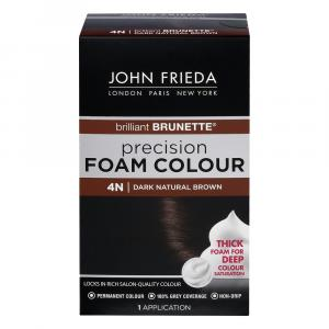 John Frieda Precision 4N Dark Natural Brown Foam Hair Colour