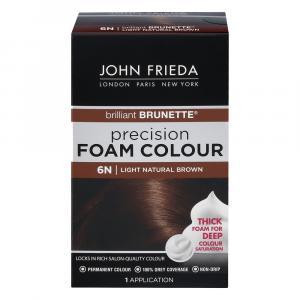 John Frieda Precision 6N Light Natural Brown Foam Colour