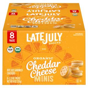 Late July Organic Cheddar Cheese Bite Size Sandwich Crackers