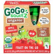 Gogo Squeeze Organic Srawberry Apple Squeez