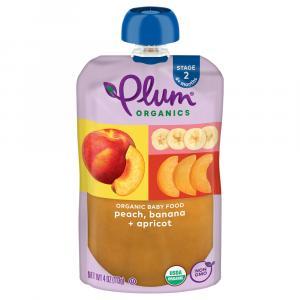 Plum Organics Peach, Apricot & Banana Baby Food