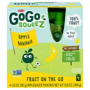 GoGo SqueeZ Apple Banana Applesauce On the Go