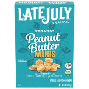 Late July Organic Mini Peanut Butter & Rich Crackers Box