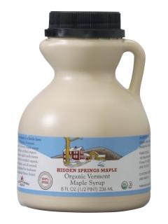 Hidden Springs Maple Organic Vermont Maple Syrup