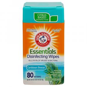 Arm & Hammer Disinfecting Wipes Caribbean Breeze Scent