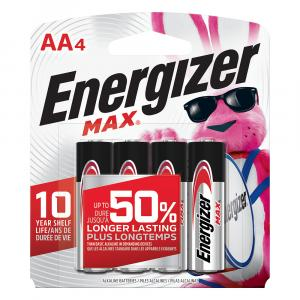 Energizer Aa Batteries E91bp-4 Max Aa