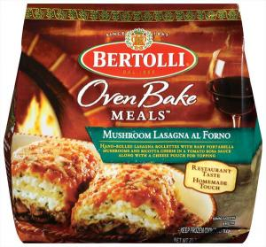 Bertolli Mushroom Lasagna Al Forno Oven Baked Meal