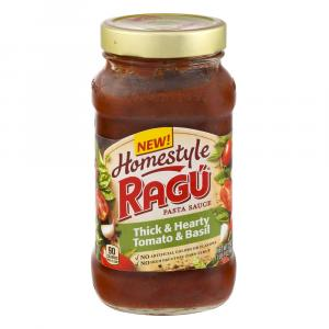 Ragu Homestyle Thick & Hearty Tomato Basil Pasta Sauce