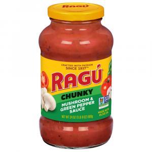 Ragu Chunky Mushroom & Green Pepper Spaghetti Sauce