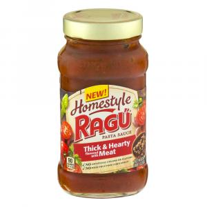 Ragu Homestyle Thick And Hearty Meat Sauce