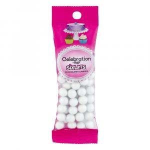 Celebration By Sweetworks White Sixlets Pouch