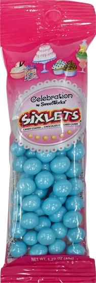 Celebration By Sweetworks Blue Sixlets Pouch