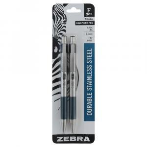 Zebra F301 Black Ball Point Pens