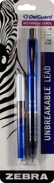 Zebra Unbreakable Lead Mechanical Pencil Fine Point