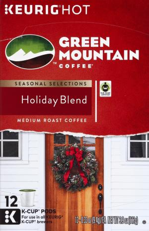 Keurig Hot Green Mountain Coffee Holiday Blend K-Cups