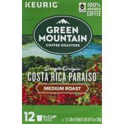 Green Mountain K-Cup Costa Rica Paraiso Medium Roast Coffee