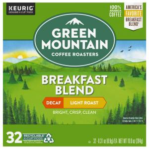 Green Mountain Breakfast Blend Decaf Light Roast K-Cups