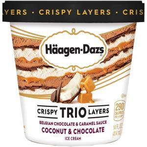 Haagen-Dazs Trio Coconut Caramel Dark Chocolate Ice Cream