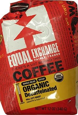 Equal Exchange Organic Whole Bean Decaffeinated Coffee