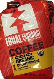 Equal Exchange Organic Whole Bean Decaffeinated Coffee