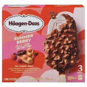 Haagen-Dazs Vanilla Dark Chocolate Cookie Ice Cream Bars