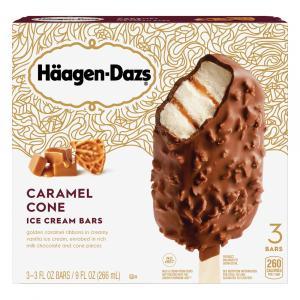 Haagen-Dazs Vanilla Caramel Pizzelle Gelato Bars
