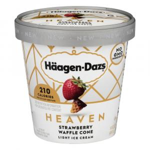 Haagen-Dazs Heaven Strawberry Waffle Cone Light Ice Cream