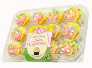 LaBree's Pink & Yellow Mini Cupcakes