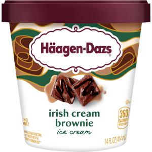 Haagen-Dazs Spirits Irish Cream Brownie Ice Cream