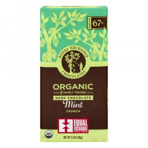 Equal Exchange Organic 67% Cacao Mint Crunch Dark Chocolate