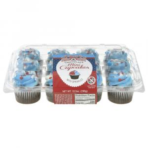Mini Patriotic Chocolate Cupcakes