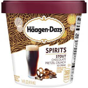 Haagen-Dazs Spirits Stout Chocolate Pretzel Crunch Ice Cream