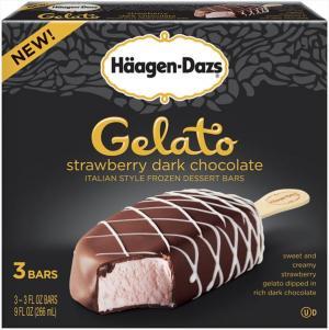 Haagen-dazs Strawberry Dark Chocolate Gelato Bars
