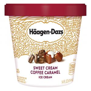 Haagen-dazs Sweet Cream Coffee Caramel Ice Cream
