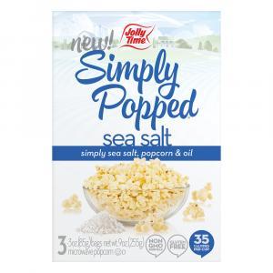 Jolly Time Simply Popped Sea Salt Microwave Popcorn