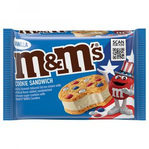M&M's Vanilla Ice Cream Cookie Sandwich