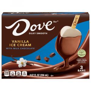 Dove Vanilla Ice Cream With Milk Chocolate Bars